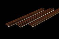 Профиль примыкания оконный с уплотнителем коричневый  6мм  3м