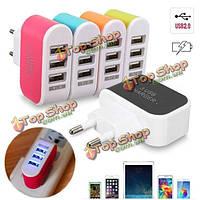 3 порта USB LED AC дома перемещения 3.1a стены адаптер питания зарядное устройство для телефона планшет