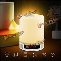 Настольная лампа беспроводной Bluetooth динамик звук музыки коробка с функцией будильника нажмите LED