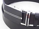 Мужской кожаный ремень с автоматической пряжкой, фото 3