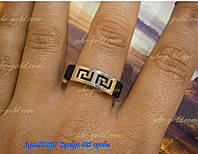 Серебреное  кольцо с каучуком.