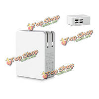 Горячая линия 4-портовый USB адаптер смарт 5.0V 2.4а дюбель зарядное устройство для Samsung iPhone Сделать ставку Ipad