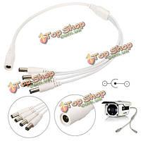 Постоянного тока от 1 до 4 разветвитель питания кабель 5.5x2.1mm для охранной системы видеонаблюдения видеонаблюдения