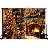 7x5ft 2.1x1.5m рождественская тема винила фотостудия проп заставок