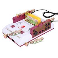 8бит видео тв классическая игровая приставка d99 с 2 игрока игры контроллерами и NES FC карточные игры