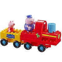Детский конструктор Peppa Pig Паровозик дедушки Пеппы 2 Фигурки 20 Деталей (06033)