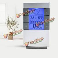 ЖК-цифровой гигрометр термометр часы температура влажность сигнала календаря
