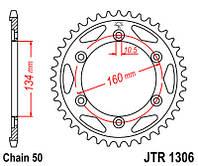 Звезда задняя JT JTR1306.40