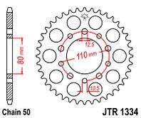 Звезда задняя JT JTR1334.39