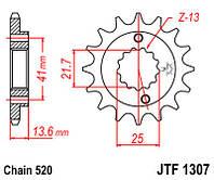 Звезда передняя JT JTF1307.15