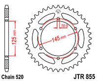 Звезда задняя JT JTR855.47