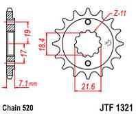 Звезда передняя JT JTF1321.12