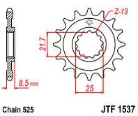 Звезда передняя JT JTF1537.17