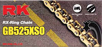 Цепь RK 525XSO 120 звеньев золот.