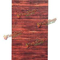 0.9 х 1.5м красная деревянная стена пол винил фотостудия фон реквизита фон
