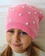 Вязаная шапочка для девочки на флисе - Da1635 (флис)