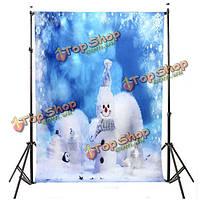 7x5ft 2.1x1.5m фантазии снеговика рождественские темы фотостудия проп фон фон
