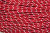 Шнур 5мм с наполнителем (100м) красный + белый