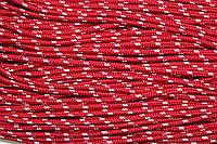 Шнур 5мм с наполнителем (100м) красный + белый, фото 1