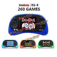CoolBoy RS-8 экран 2.5-дюймов 8bit встроенный в 260 различных классических игр портативных игровых консолей с помощью аудиовидеокабеля