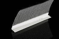 Профиль примыкания оконный с уплотнителем с сеткой белый  6мм   3м