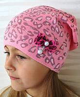 Вязаная шапочка для девочки на флисе - Da1637 (флис)