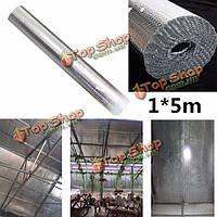 1м * 5м завод крыша изолирующая пленка двойной пузырь алюминиевой фольги чердачная изоляция рулон, фото 1
