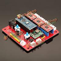 3 оси плата контроллера Драйвер шагового двигателя лазера доски для поделок лазерного гравера
