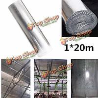 1m * изолирующая пленка 20м тепла двойной пузырь алюминиевой фольги чердачная изоляция рулона пленки стены караван
