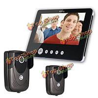 Sy905fc21 видео домофон дверной звонок Интерком комплект 900tvl IR ночного видения 2-камера 9-дюймов TFT ЖК-монитор 1-