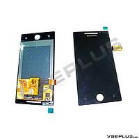 Дисплей (экран) Samsung I8700 Omnia 7, черный, с сенсорным стеклом