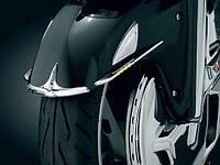 """Хромированные накладки Kuryakyn со светодиодами на переднее крыло GL1800 """"01-15 & F6B"""