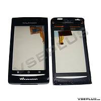Тачскрин (сенсор) Sony Ericsson E16i Xperia W8, черный