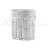 Корзина для белья с крышкой плетеная M белая Provanse AWD02240682