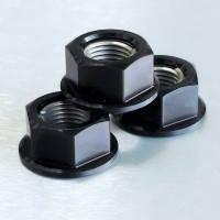 Алюминиевая гайка Pro-Bolt M10 c неотделимой шайбой, черная