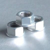 Алюминиевая гайка Pro-Bolt M12 c неотделимой шайбой, серебр.