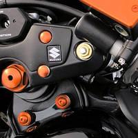 Алюминиевая заглушка Pro-Bolt M10 в отверстие болта, оранжевая