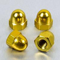 Алюминиевая колпачковая гайка Pro-Bolt M4 (Din1587), золотая