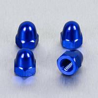 Алюминиевая колпачковая гайка Pro-Bolt M4 (Din1587), синяя