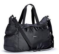 Спортивная сумка черная багажная дорожная из полиэстера Dolly 931 Украина 57х35х27см