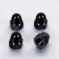 Алюминиевая колпачковая гайка Pro-Bolt M6 (Din1587), черная