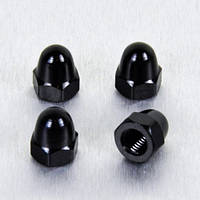 Алюминиевая колпачковая гайка Pro-Bolt M8 (Din1587), черная