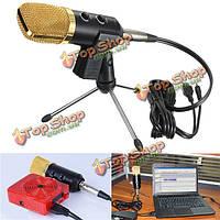 Аудио динамический USB конденсаторный звукозапись микрофон вокальный микрофон с подставкой крепление