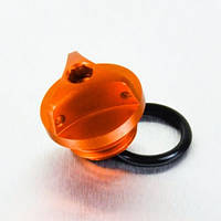 Алюминиевая крышка горловины залива масла Pro Bolt Honda оранжевый