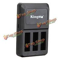 Kingma тройная 3-х канальный зарядное три порта зарядное устройство дома для Gopro Hero камеры 4 HD