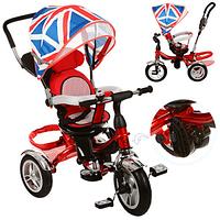 Трехколесный детский велосипед BRITANICA TURBO TRIKE M 3114-2A НАДУВНЫЕ КОЛЕСА - ПОВОРОТНОЕ СИДЕНЬЕ