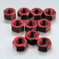 Алюминиевая полноразмерная гайка Pro-Bolt M5, красная