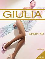 Женские капроновые колготы Giulia Infinity 40 den (разные цвета), 50/62