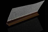 Профиль примыкания оконный с уплотнителем с сеткой коричневый  6мм   2,4 м