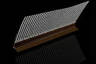 Профиль примыкания оконный с уплотнителем с сеткой коричневый  9мм   2,4 м